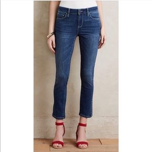 Pilcro Anthro stet side slit jeans cropped ankle